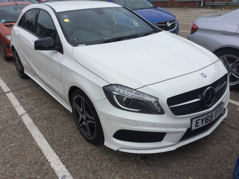 Used Mercedes Benz A Class A200 Amg Night Edition 5dr White Hatchback For Sale In Southampton Reg Ey65 Ttv